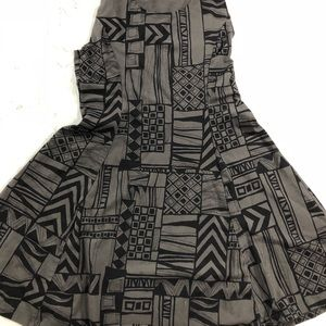 vans gray and black print dress size m